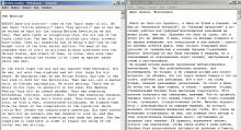 Пример текста в открытых двух блокнотах