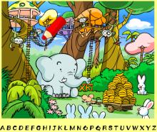Увлекательная игра, поиск букв